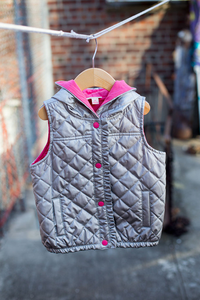 Quilted Bubble Vest with Hoodie