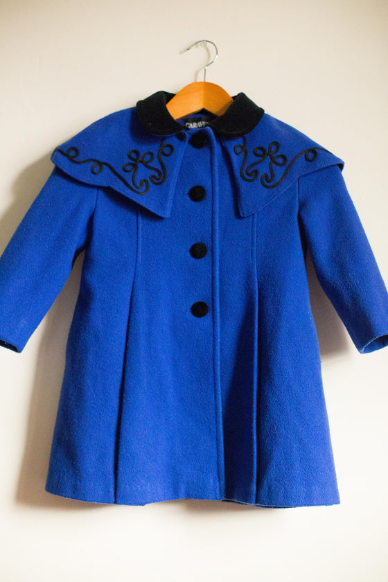 Bolero Inspired VINTAGE Wool Coat