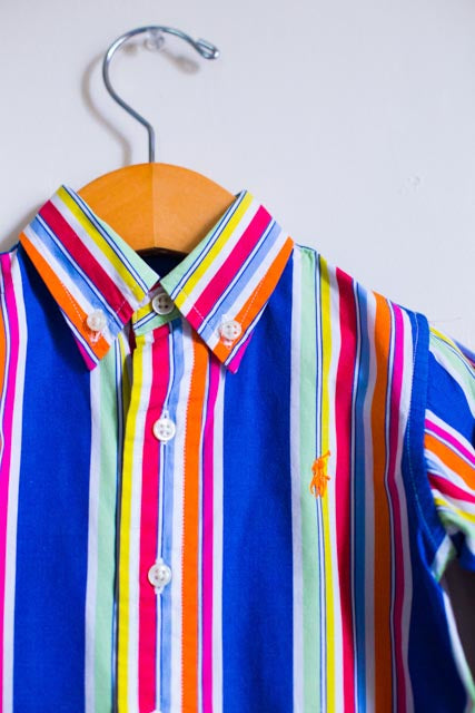 MULTI-COLOR STRIPED BUTTON DOWN SHIRT