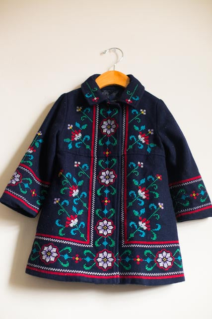 Floral Embroidered Peacoat