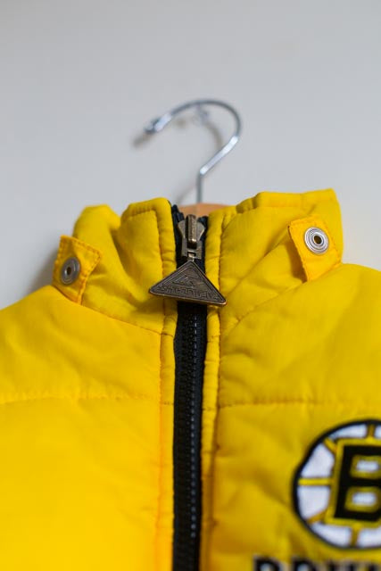 VINTAGE REVERSIBLE BRUINS BUBBLE COAT