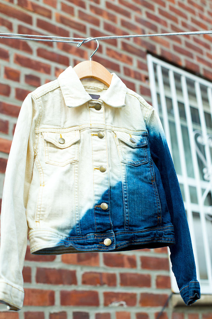 Custom Bleached Trendy Denim Jacket