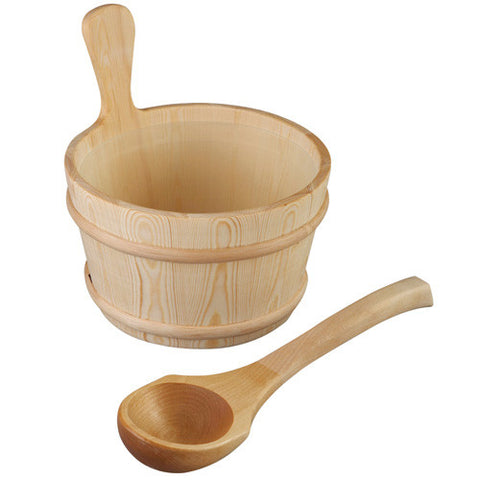 Sauna Wooden Pail and Liner