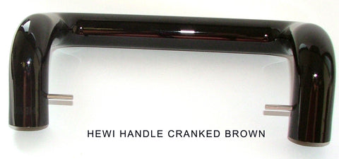 Hewi Handle Cranked Brown