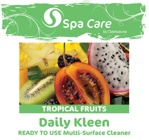 "Daily Kleen Multi Surface Cleaner ""Tropical Fruits"" Ready To Use 2 x 5ltr (with tap and heavy duty 750ml trigger spray)"