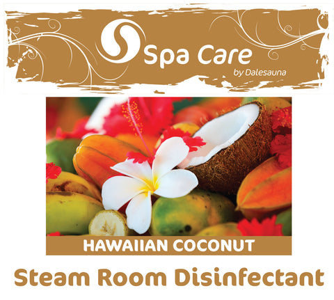 "Steam Room Disinfectant ""Hawaiian Coconut"" 2 x 5ltr (with 30ml dosage dispenser)"
