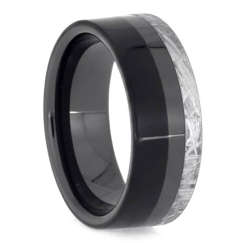 BLACK CERAMIC WEDDING BANDS
