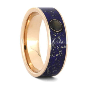 SAPPHIRE WEDDING RING IN ROSE GOLD-3535 - Cairo Men's Wedding Rings