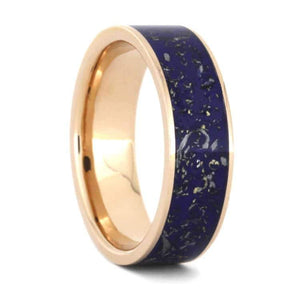 BLUE STARDUST WEDDING BAND IN ROSE GOLD-3536 - Cairo Men's Wedding Rings