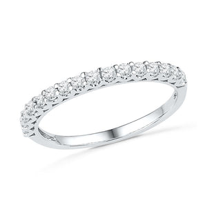 Ladies Diamond Wedding Band in 14k White Gold-SHRA030296-14K