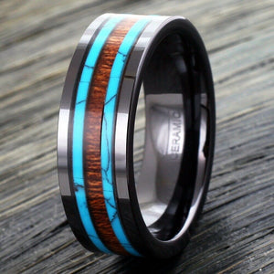 The Surf and Turf - Cairo Men's Wedding Rings