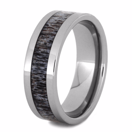 ANTLER RING WITH TUNGSTEN BAND-2193 - Cairo Men's Wedding Rings