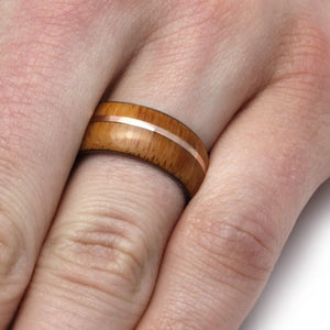 BAMBOO RING WITH ROSE GOLD-1997 - Cairo Men's Wedding Rings