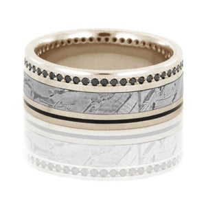 BLACK DIAMOND ETERNITY RING IN WHITE GOLD-DJ1022WG - Cairo Men's Wedding Rings