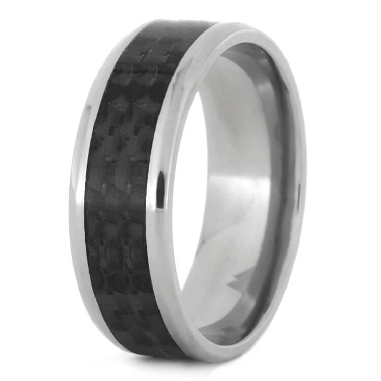 CARBON FIBER TITANIUM WEDDING BAND-2478 - Cairo Men's Wedding Rings