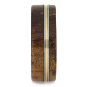 CHERRY BURL WOOD WEDDING BAND WITH TITANIUM AND BRONZE-1665 - Cairo Men's Wedding Rings