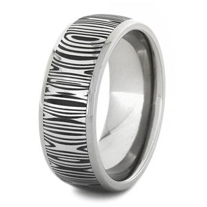 DAMASCUS AND STAINLESS STEEL RING-1750 - Cairo Men's Wedding Rings