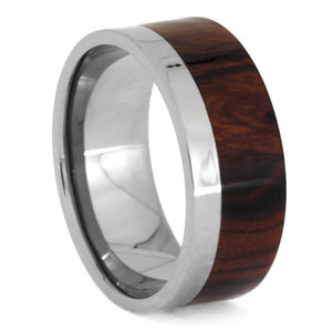 DESERT IRONWOOD WEDDING BAND WITH TITANIUM-1236 - Cairo Men's Wedding Rings