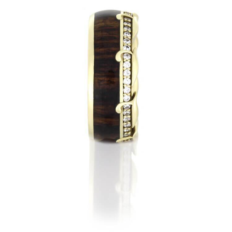 DIAMOND ETERNITY WEDDING BAND IN YELLOW GOLD-DJ1013YG - Cairo Men's Wedding Rings