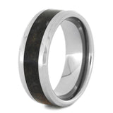 DINOSAUR BONE RING BEVELED WITH TUNGSTEN-2138 - Cairo Men's Wedding Rings