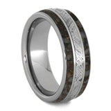 DINOSAUR BONE BAND WITH METEORITE AND TITANIUM-4237 - Cairo Men's Wedding Rings