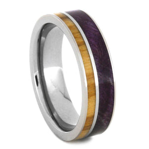 WOOD AND TITANIUM WEDDING BAND-2102 - Cairo Men's Wedding Rings