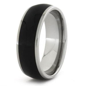 EBONY TITANIUM WOOD RING-1744 - Cairo Men's Wedding Rings