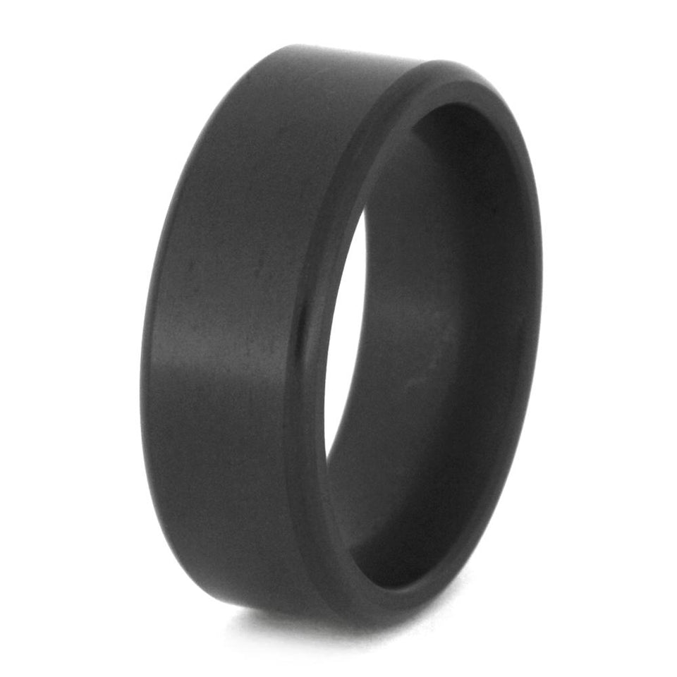 ELYSIUM RING WITH BEVELED PROFILE-ELY-E8B - Cairo Men's Wedding Rings