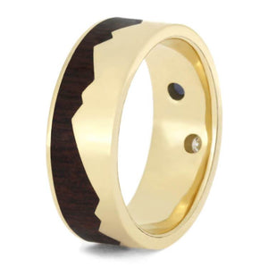 GEMSTONE WEDDING RING FOR MEN, MOUNTAIN RING-2367 - Cairo Men's Wedding Rings