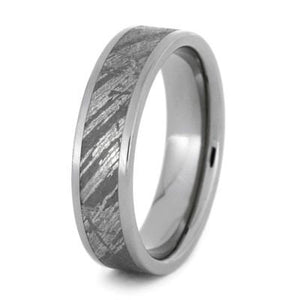 GIBEON METEORITE TITANIUM RING-1159 - Cairo Men's Wedding Rings