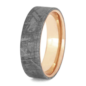 GIBEON METEORITE WEDDING BAND, ROSE GOLD RING-2440 - Cairo Men's Wedding Rings