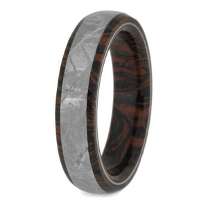 MOKUME GANE GIBEON METEORITE WEDDING BAND -2434 - Cairo Men's Wedding Rings