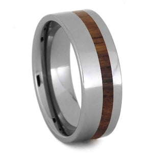 HONDURAN ROSEWOOD RING, TUNGSTEN WEDDING BAND-2710 - Cairo Men's Wedding Rings