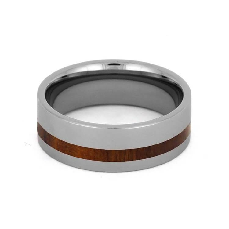 IRONWOOD WEDDING BAND, MENS TUNGSTEN RING-2709 - Cairo Men's Wedding Rings
