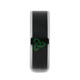 JADE RING ENGRAVED WITH TITANIUM TRINITY KNOT-1447 - Cairo Men's Wedding Rings