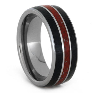 JADE TUNGSTEN WEDDING BAND WITH STARDUST-3230 - Cairo Men's Wedding Rings