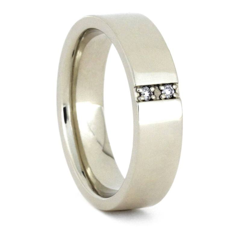 MENS WHITE GOLD DIAMOND ENGAGEMENT RING-3446 - Cairo Men's Wedding Rings