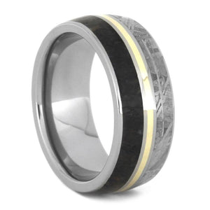 MEN'S DINOSAUR BONE TITANIUM WEDDING BAND-3560 - Cairo Men's Wedding Rings