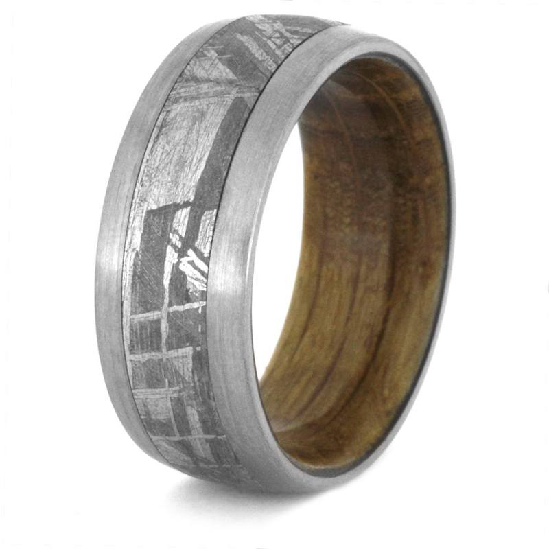 MEN'S TITANIUM METEORITE WEDDING BAND-3430 - Cairo Men's Wedding Rings