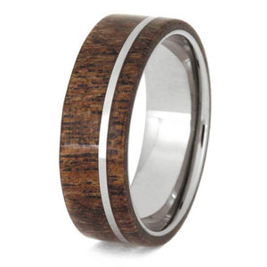 MESQUITE BURL IN A TUNGSTEN WEDDING BAND-1132 - Cairo Men's Wedding Rings