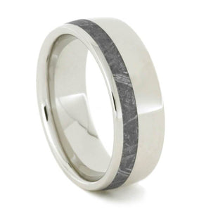 METEORITE WEDDING BAND, PLATINUM RING FOR MEN-1927 - Cairo Men's Wedding Rings