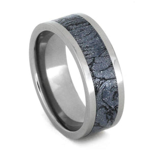 MOKUME GANE WEDDING BAND, TITANIUM RING WITH MOKUME INLAY-3258 - Cairo Men's Wedding Rings