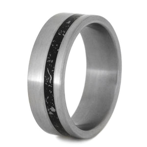 OFFSET STARDUST RING FASHIONED WITH BRUSHED FINISH-2787 - Cairo Men's Wedding Rings
