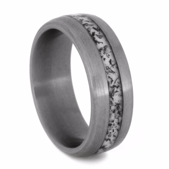 RING WITH CRUSHED TITANIUM BICYCLE CHAIN-2130