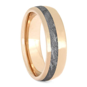 ROSE GOLD MEN'S WEDDING BAND WITH METEORITE-2660 - Cairo Men's Wedding Rings