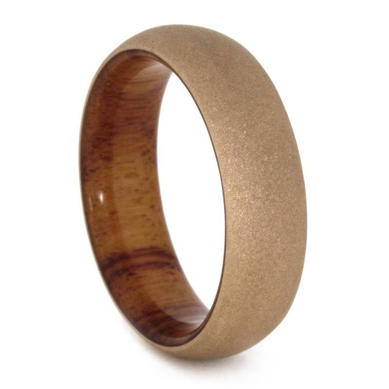 ROSE GOLD WEDDING RING WITH SANDBLASTED FINISH-3288 - Cairo Men's Wedding Rings