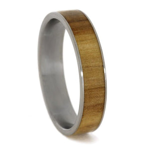 ROWAN WOOD RING ON TITANIUM SLEEVE-1743 - Cairo Men's Wedding Rings
