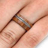 ROWAN WOOD WEDDING BAND WITH BASS STRING-2124 - Cairo Men's Wedding Rings