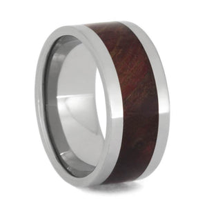 RUBY REDWOOD RING, TITANIUM WEDDING BAND-3701 - Cairo Men's Wedding Rings