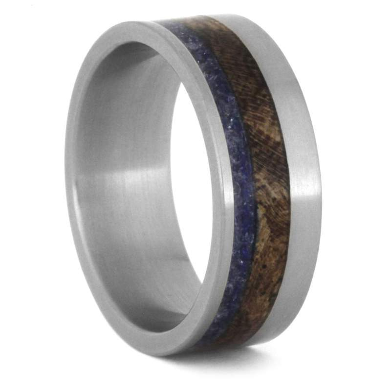SEA GLASS JEWELRY, WOOD WEDDING BAND-3520 - Cairo Men's Wedding Rings